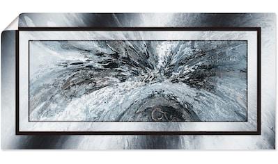 Artland Wandbild »Schwarz - weiß abstrakt 1«, Muster, (1 St.), in vielen Größen & Produktarten - Alubild / Outdoorbild für den Außenbereich, Leinwandbild, Poster, Wandaufkleber / Wandtattoo auch für Badezimmer geeignet kaufen