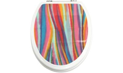 ADOB WC-Sitz »Streifen«, mit messingverchromten Scharnieren kaufen