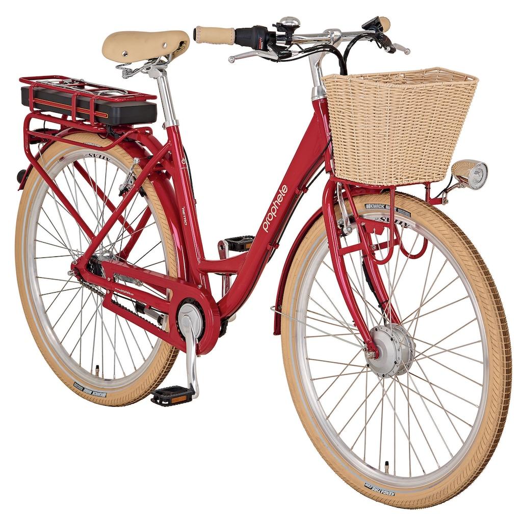Prophete E-Bike »Geniesser e3000«, 7 Gang, Shimano, Nexus, Frontmotor 250 W, mit Fahrradkorb
