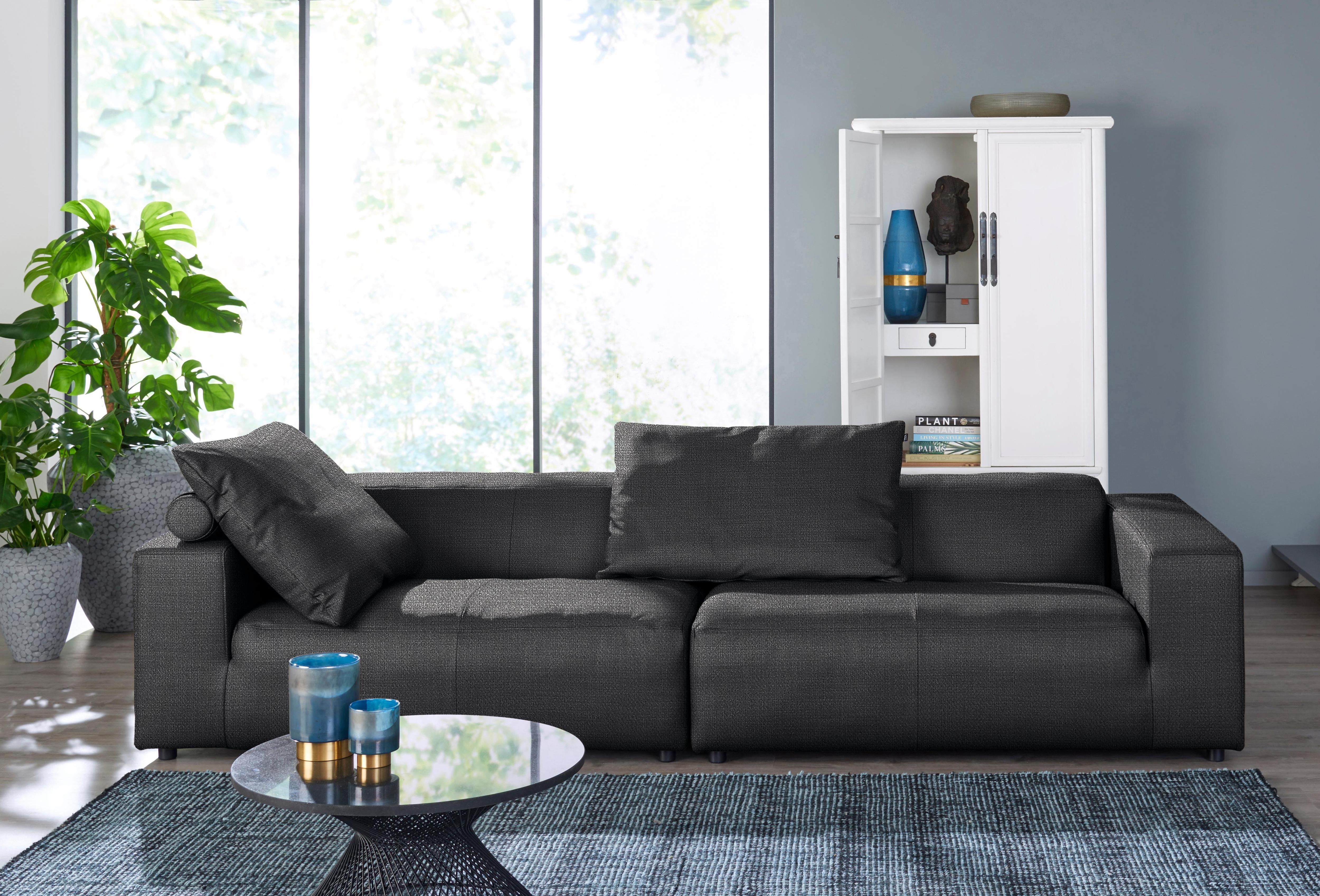 hülsta sofa 3-Sitzer Sofa »hs. 432« wahlweise in Stoff oder Leder, mit niedrigem Rücken