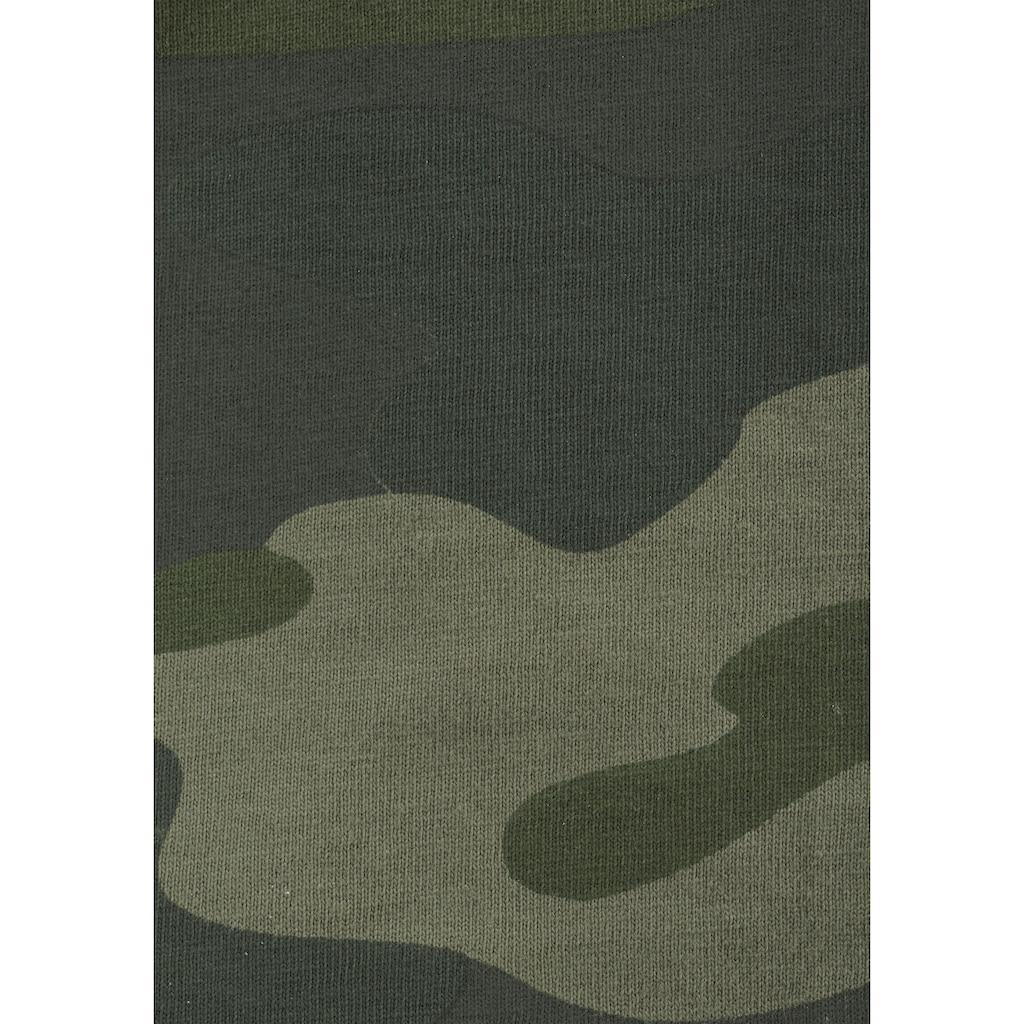KIDSWORLD Langarmshirt, tarnfarben mit Kängurutasche