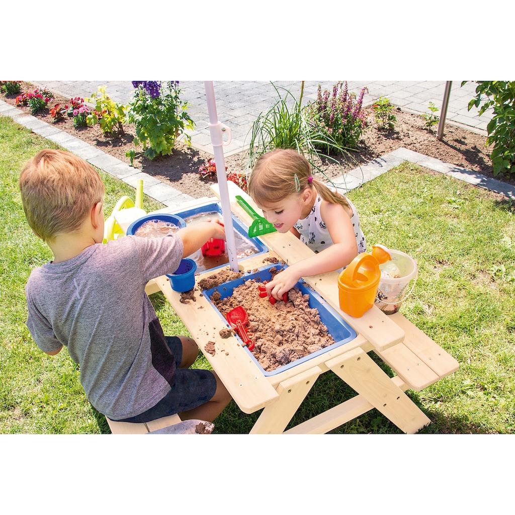 PINOLINO Sand- und Wasserspieltisch »Matsch-Nicki«, BxTxH: 88x88x52 cm