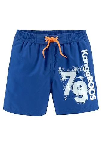 KangaROOS Badeshorts, mit Logodruck seitlich kaufen