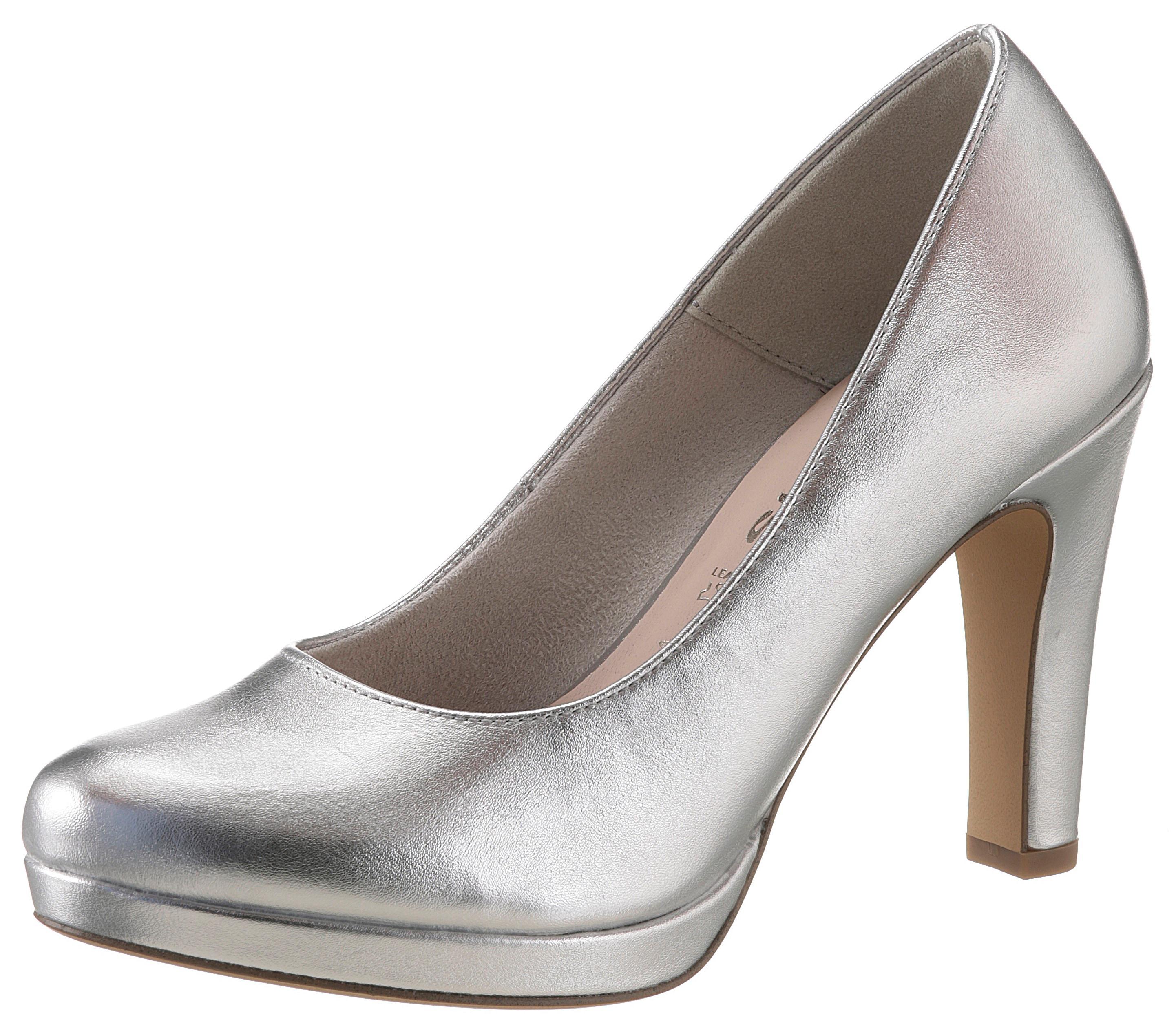tamaris -  High-Heel-Pumps, im Metallic-Look