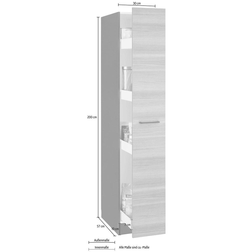 wiho Küchen Apothekerschrank »Esbo«, Auszug mit 4 Ablagefächern