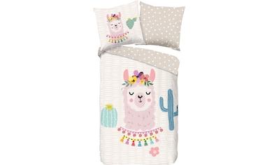 good morning Kinderbettwäsche »Llama«, mit Lama kaufen