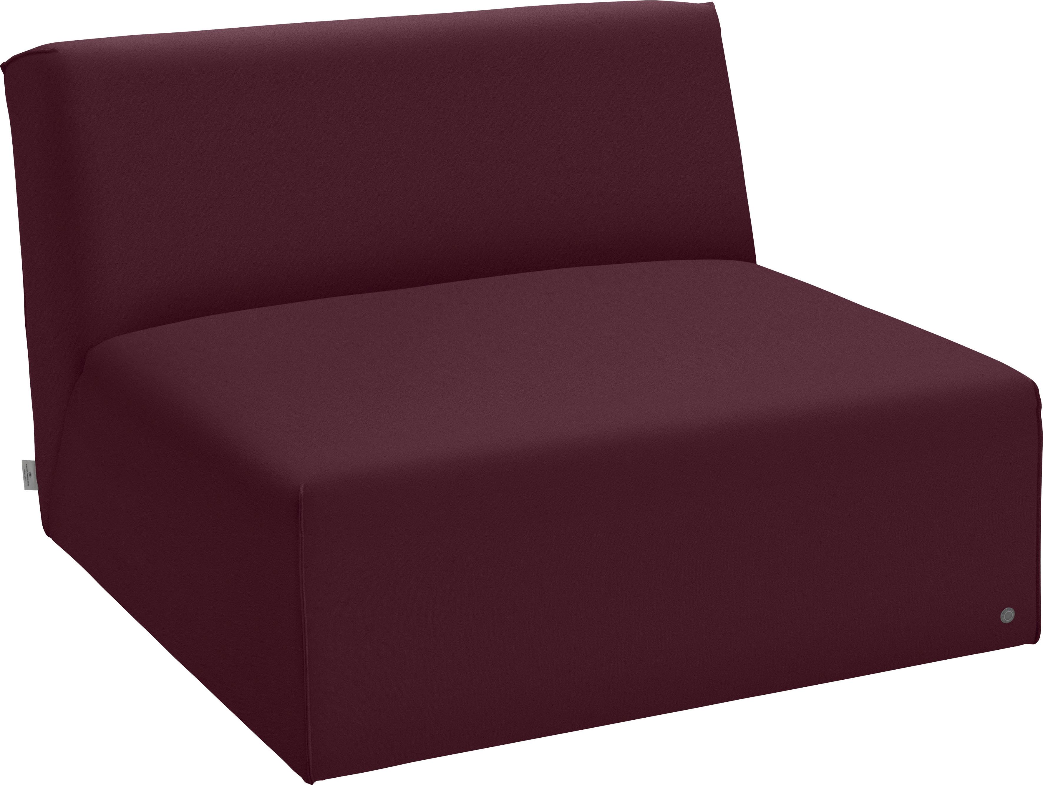 TOM TAILOR Sofaelement ELEMENTS, Sitzelement ohne Armlehne rot Sofaelemente Sofas Couches