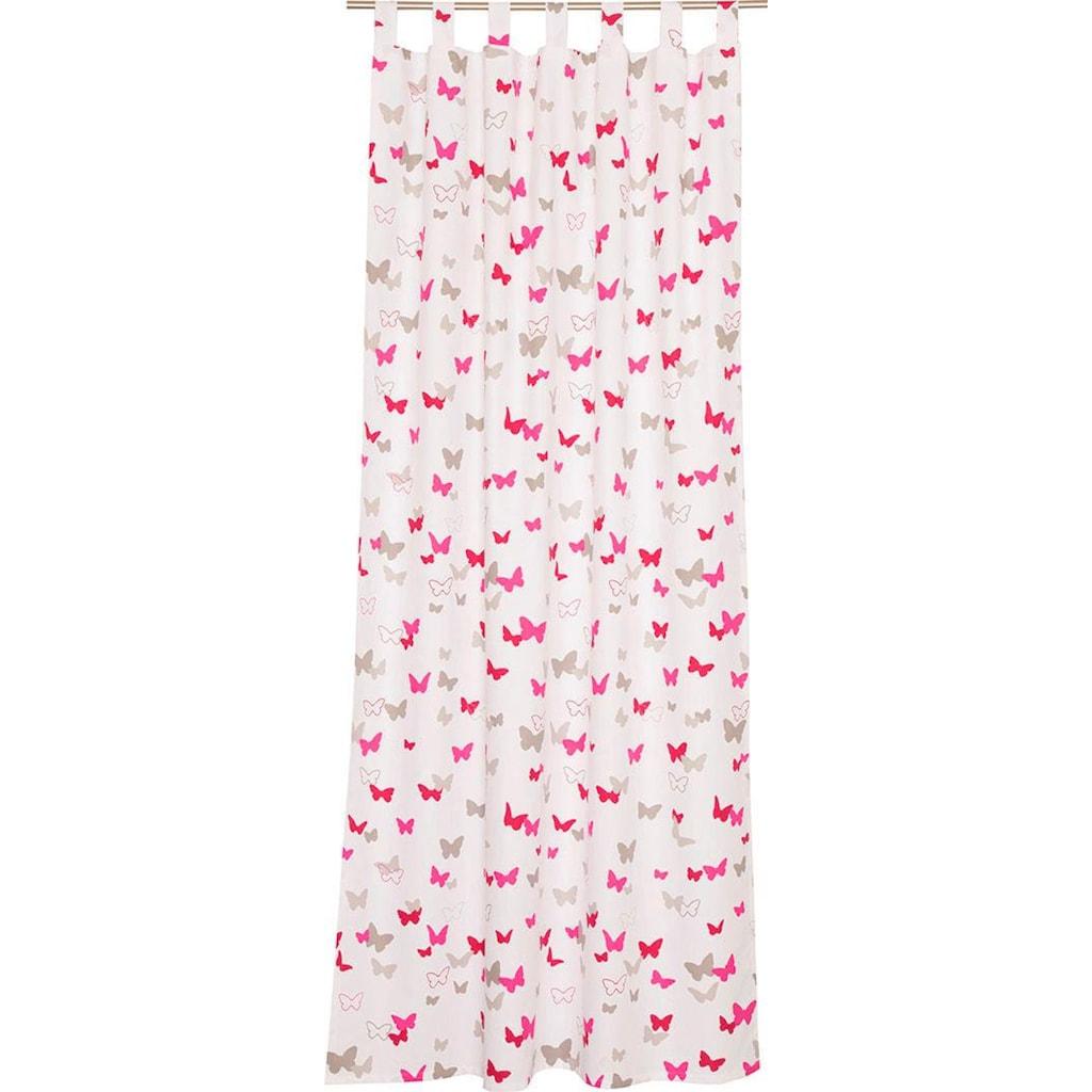 Esprit Vorhang »E-Sweetbutterfly«, HxB: 250x140, bedruckt mit bunten Schmetterlingen