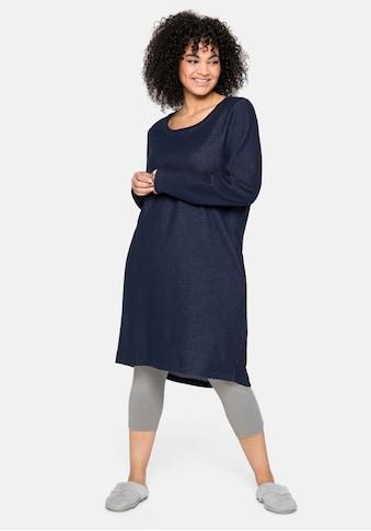 Sheego Sweatkleid, mit Kontrast-Innenseite kaufen