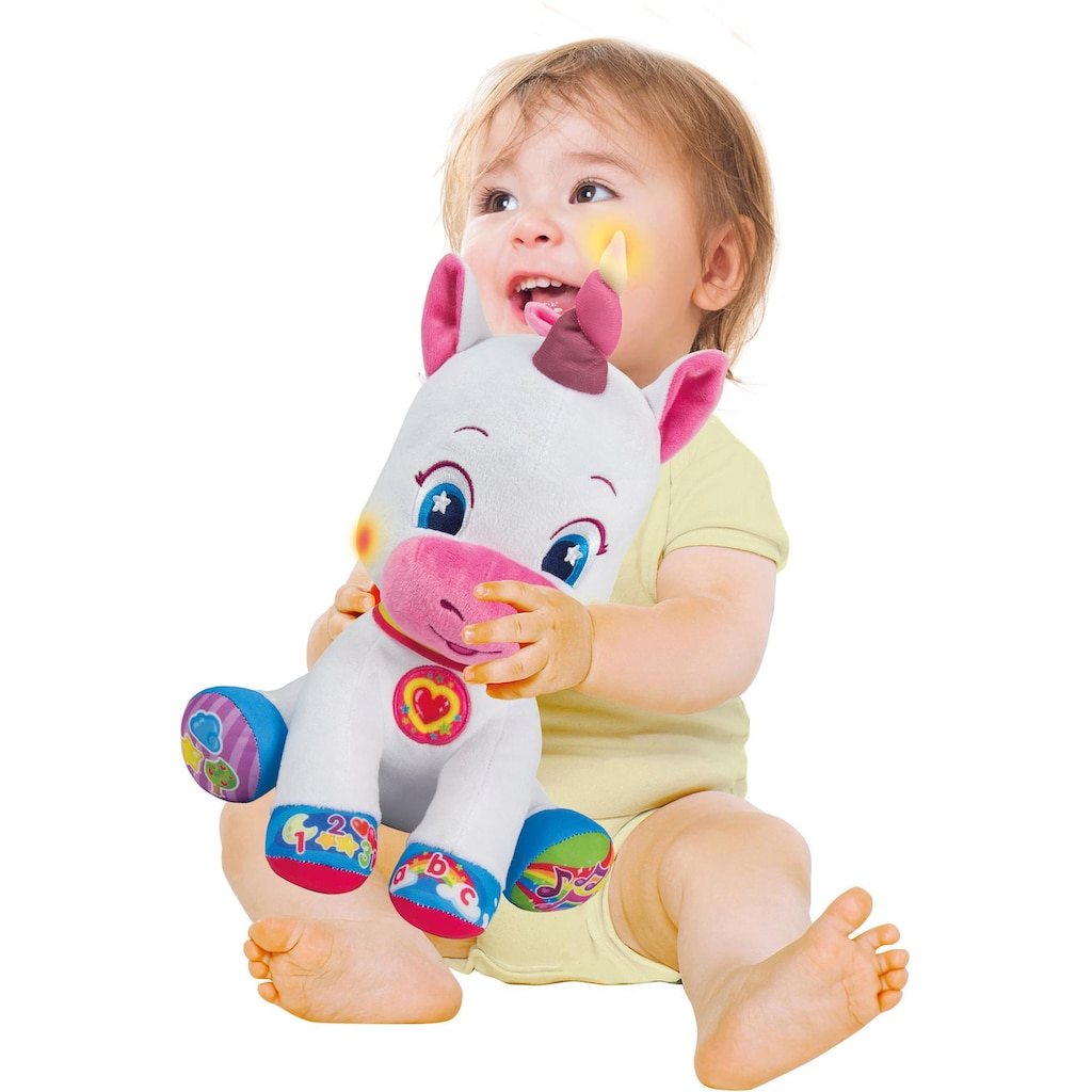 Clementoni® Plüschfigur »Clementoni Baby - Plüscheinhorn«, mit Licht- und Soundeffekten