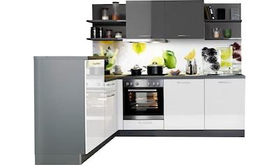 Express Küchen Winkelküche »Jena«, mit E-Geräten, vormontiert, mit... kaufen