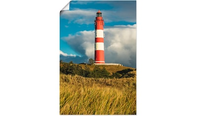 Artland Wandbild »Leuchtturm Wittdün auf der Insel Amrum«, Gebäude, (1 St.), in vielen... kaufen