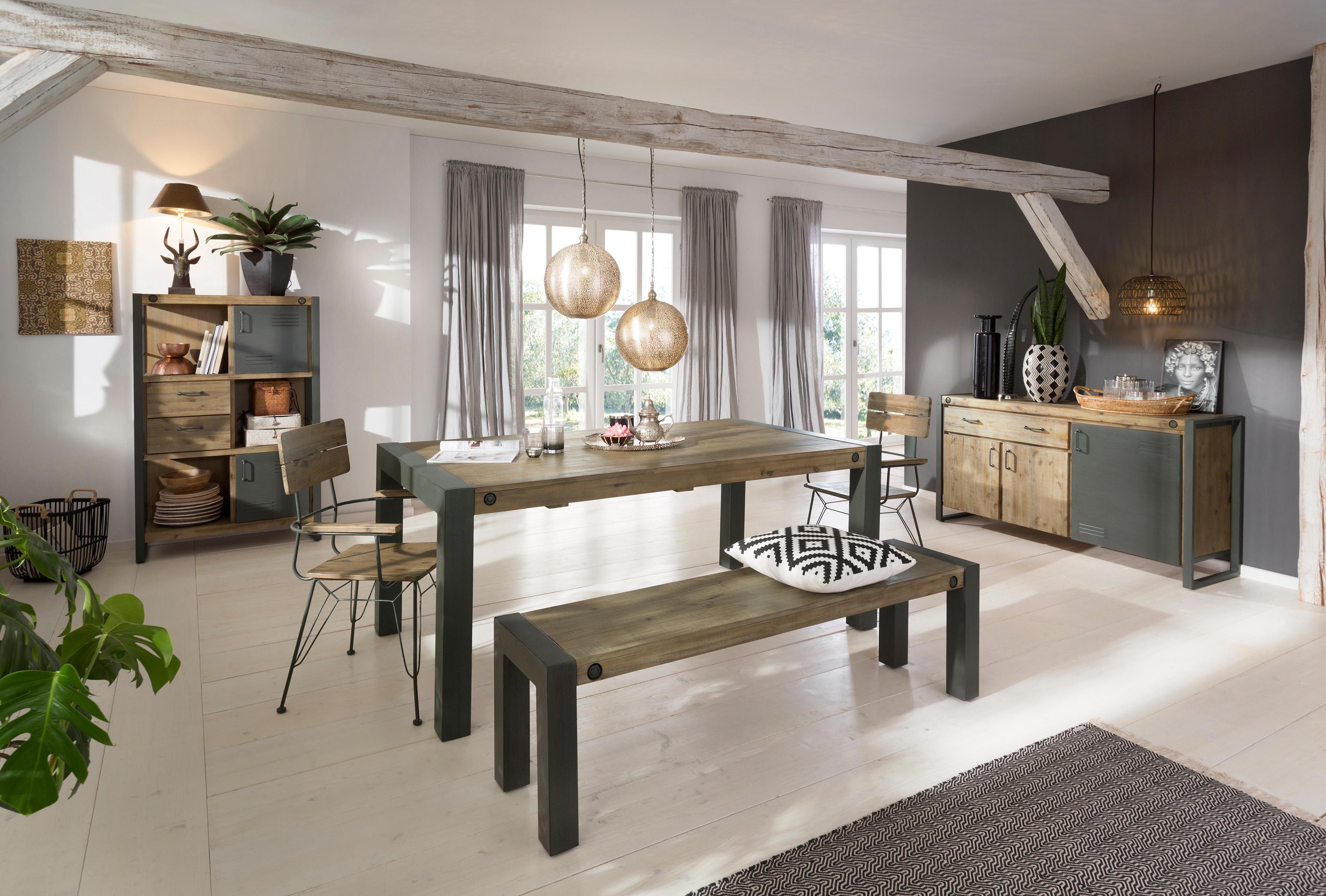 Quadrato Esstisch »Mirage« mit Metallschrauben als Dekorationselement, mit Auszugsfunktion