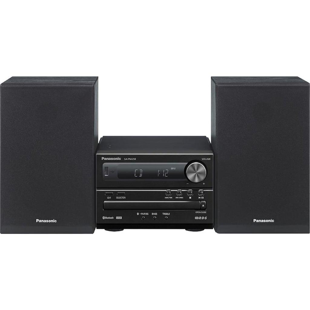 Panasonic Kompaktanlage »SC-PM250«, (Bluetooth FM-Tuner mit RDS )
