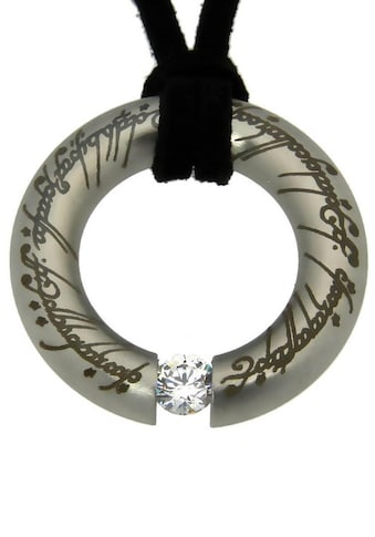 Der Herr der Ringe Kette mit Anhänger »Der Eine Ring Anhänger mit elbische Runen,... kaufen