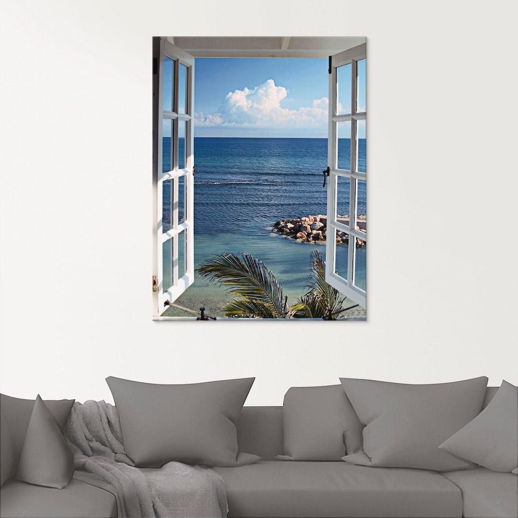 Artland Glasbild »Fenster zum Paradies«, Fensterblick, (1 St.)