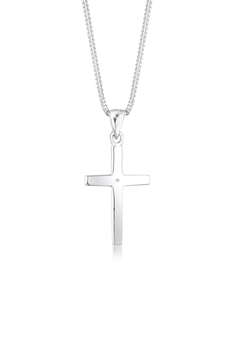 Diamore Collierkettchen »Kreuz Glaube Diamant (0.01 ct) Basic 925 Silber« kaufen
