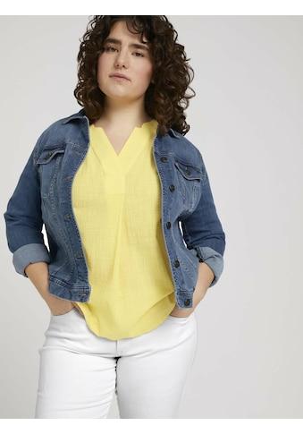 TOM TAILOR MY TRUE ME Longbluse »Curvy - Tunika Bluse mit Bio-Baumwolle« kaufen