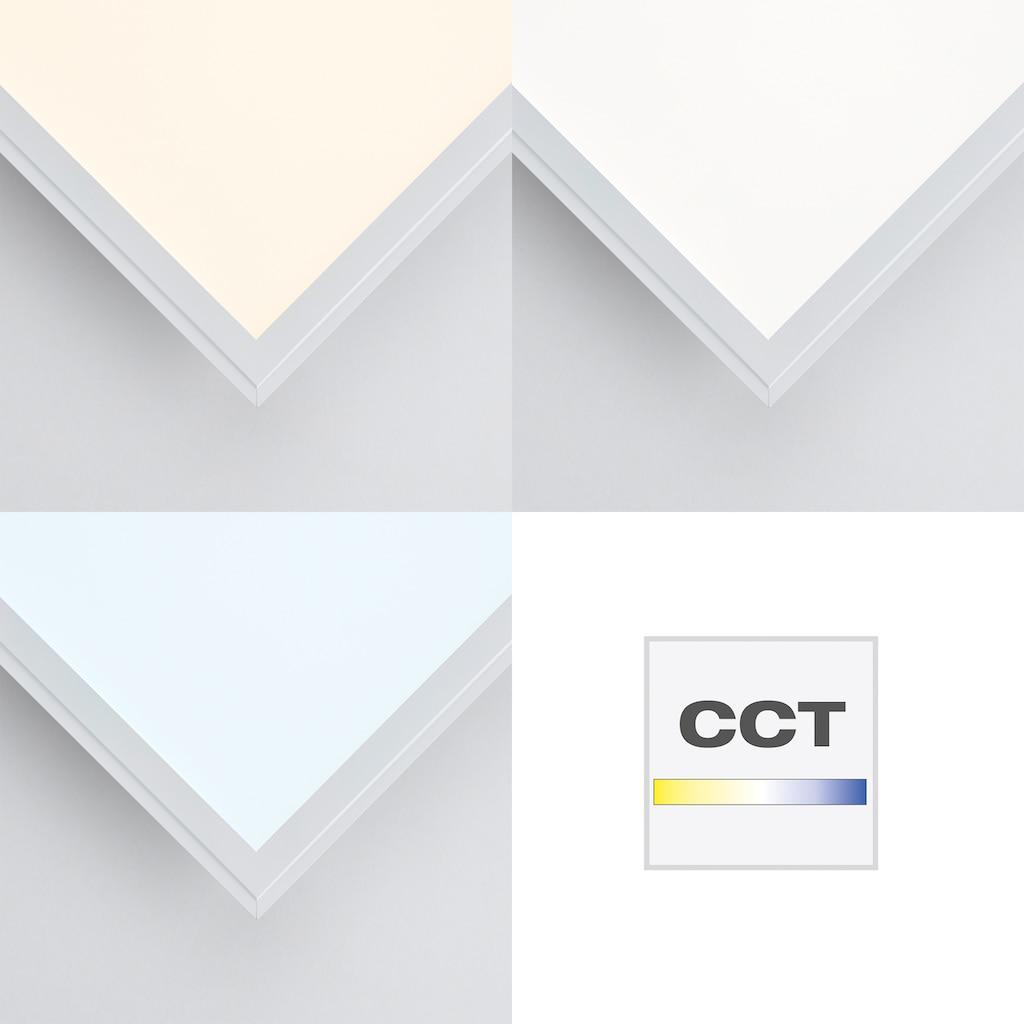 Brilliant Leuchten LED Panel »Allie«, LED-Board, Kaltweiß-Neutralweiß-Tageslichtweiß-Warmweiß, Deckenlampe, dimmbar, CCT Farbtemperatursteuerung, RGB Backlight, inkl. Fernsteuerung, Nachtlichtfunktion, L/B 40/40 cm