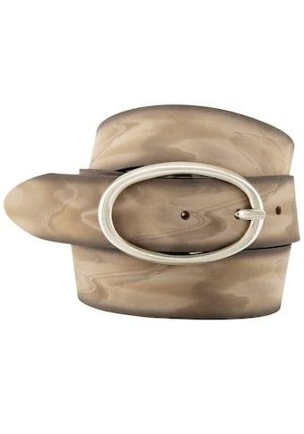 BERND GÖTZ Ledergürtel, mit Ghostschattierung und Ovalschließe kaufen