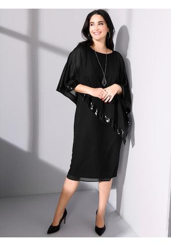 MIAMODA Chiffonkleid, mit asymmetrischem Überwurf mit Pailletten kaufen