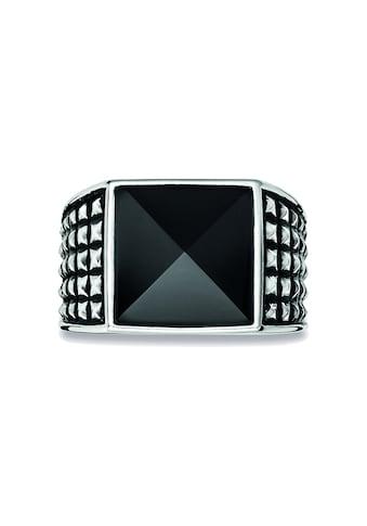 CAÏ Fingerring »925/- Sterling Silber rhodiniert poliert Onyx«, Ring kaufen