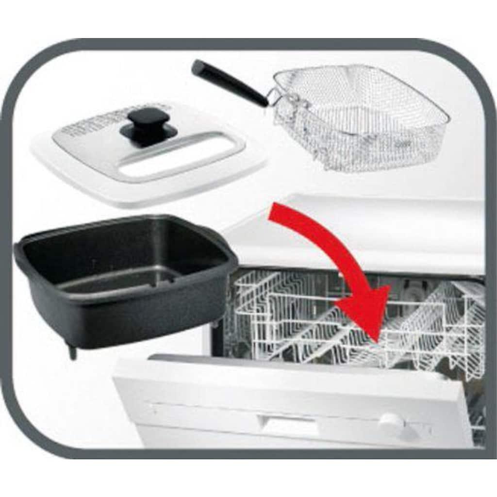 Tefal Fritteuse »deLuxe FR4950«, mit Pfannenwender, Fassungsvermögen 1,3 kg, Innenbehälter herausnehmbar und antihaftbeschichtet