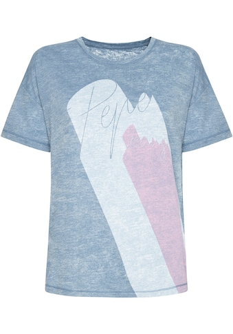 Pepe Jeans Print-Shirt »ALEXA«, mit extravaganten Logoprint kaufen