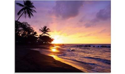 Artland Glasbild »Tropischer Strand«, Sonnenaufgang & -untergang, (1 St.) kaufen
