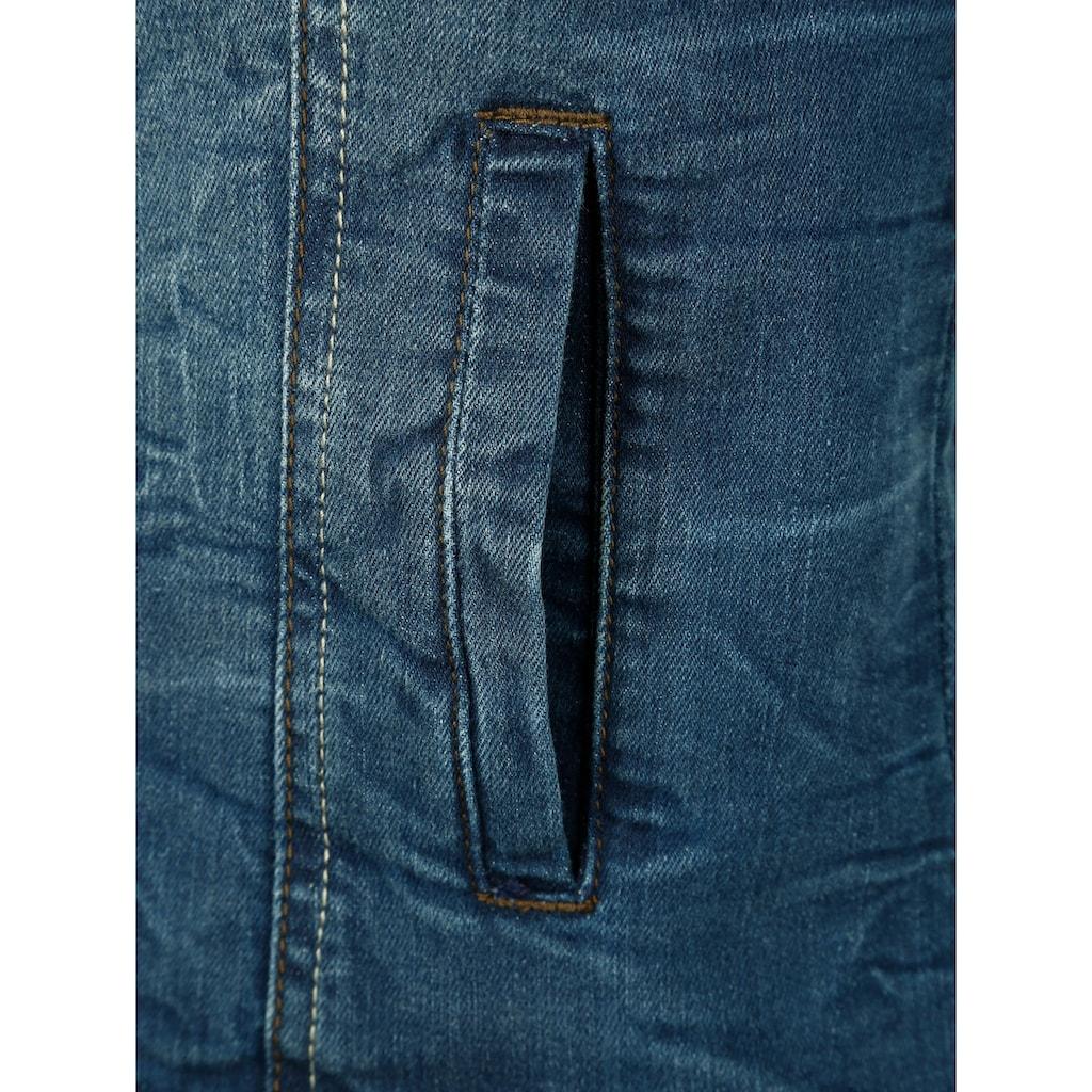 Dress In Jeansjacke, mit angesagten Wascheffekten