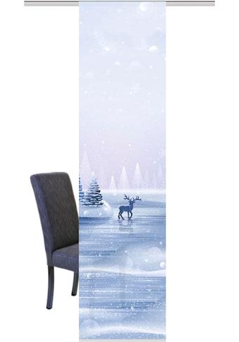 HOME WOHNIDEEN Schiebegardine »RENTIER«, HxB: 245x60, Schiebevorhang Digitaldruck kaufen