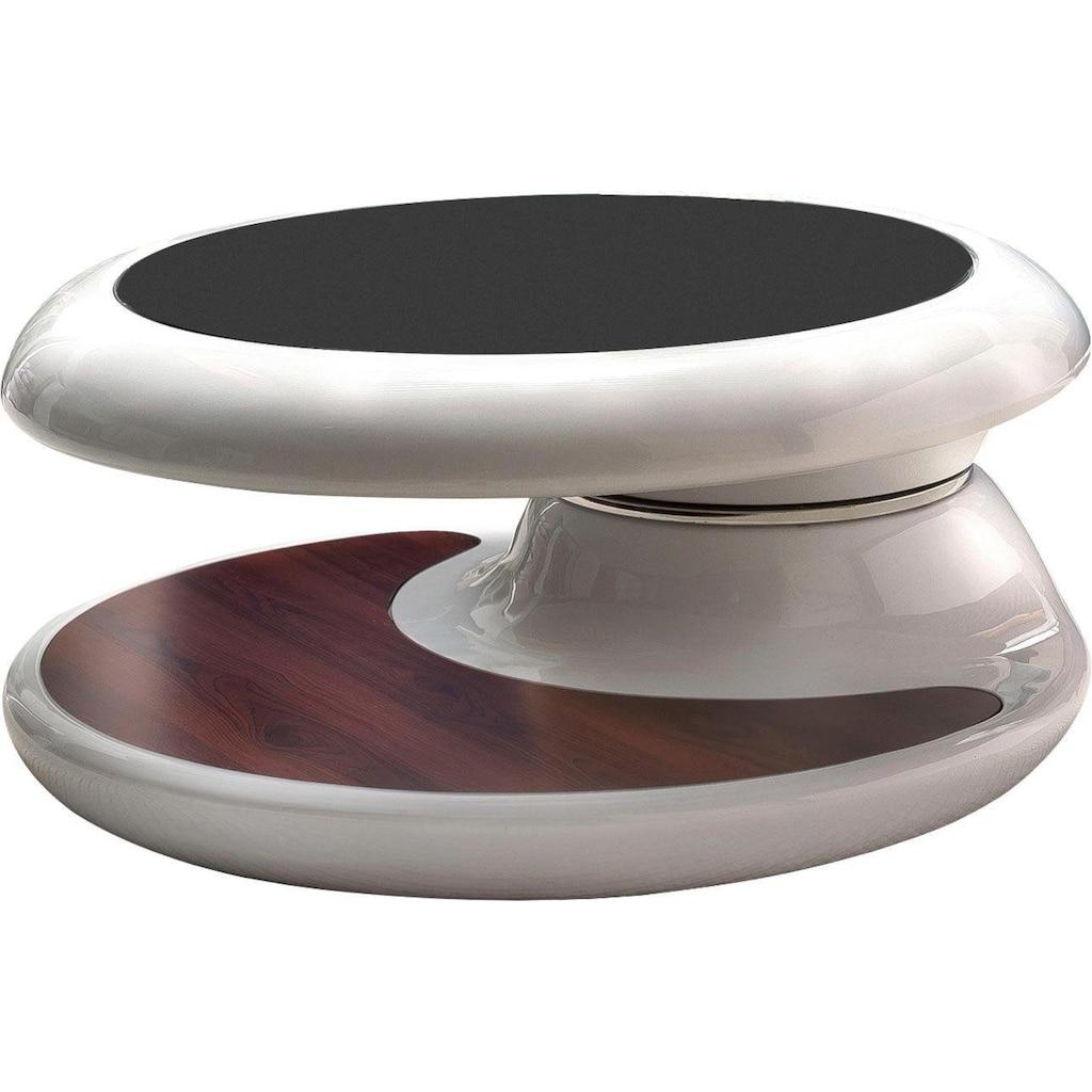 SalesFever Couchtisch, Tischplatte um 360° drehbar