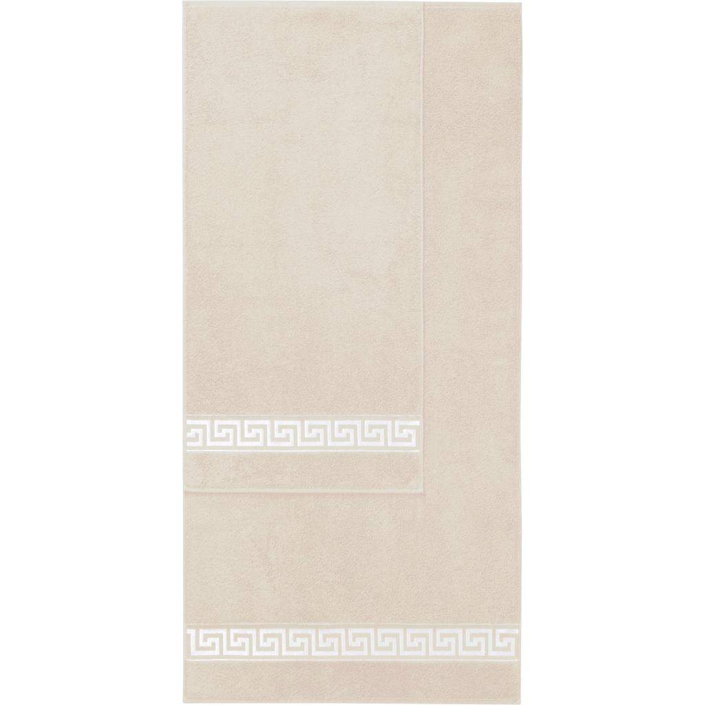 Delindo Lifestyle Handtuch »Rhodos«, (2 St.), mit auffälliger Bordüre