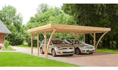 Kiehn-Holz Doppelcarport »KH 104«, Holz, 528 cm, grün, Alu-Dach kaufen