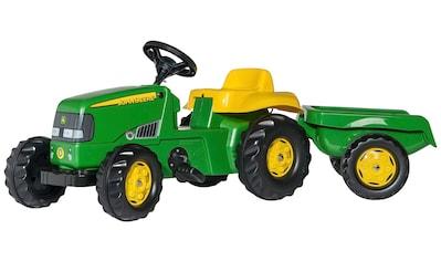 ROLLY TOYS Tretfahrzeug »John Deere«, Traktor mit Trailer kaufen