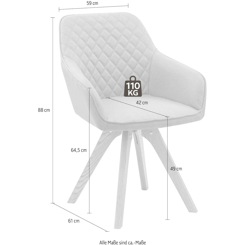 SalesFever Esszimmerstuhl, mit Diamantsteppung auf der Rückenlehne