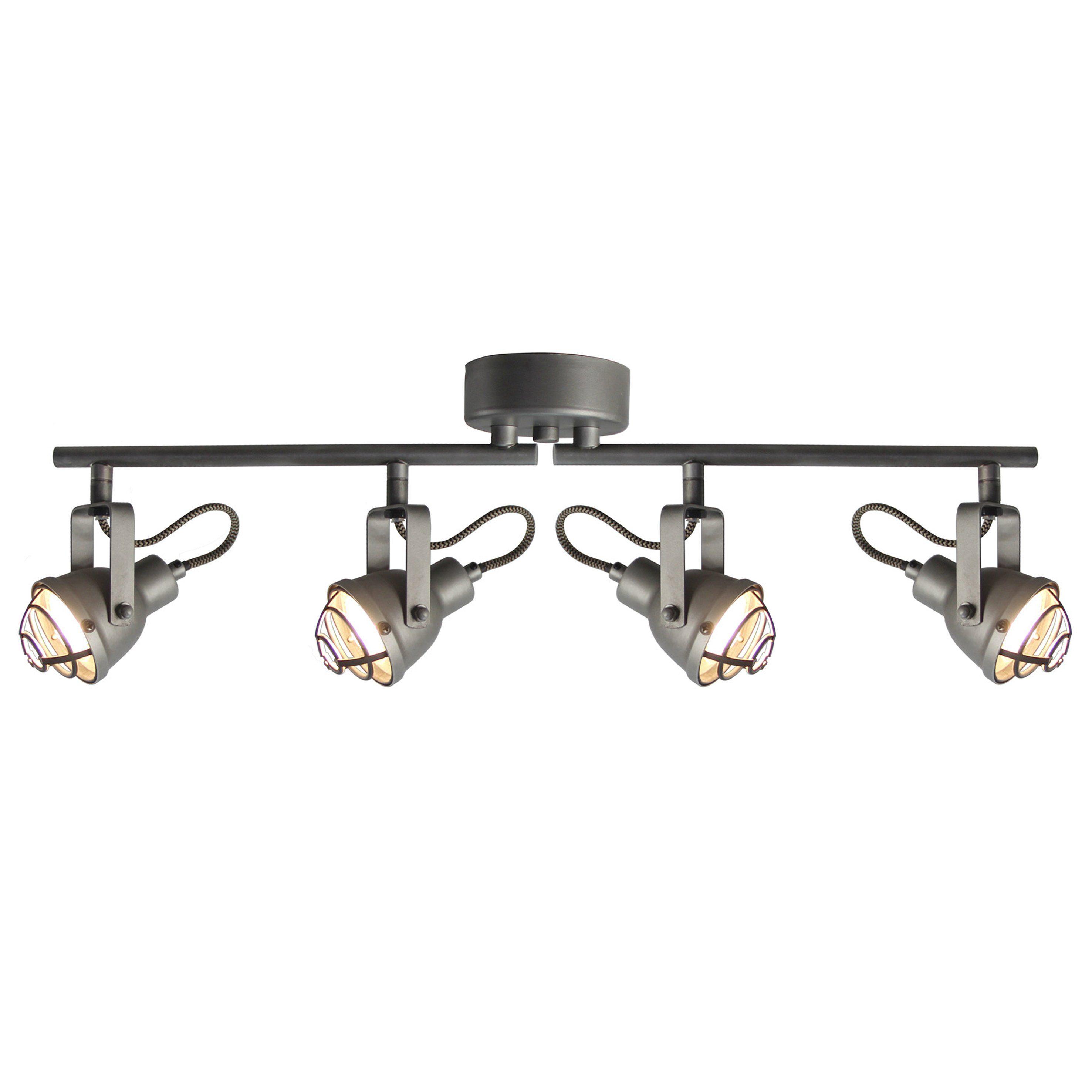 Brilliant Leuchten Bente LED Spotrohr 4flg burned steel