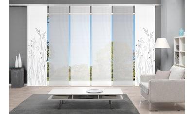 Vision Schiebegardine »GRASIL 6er SET«, Bambus-Optik, Digital bedruckt kaufen