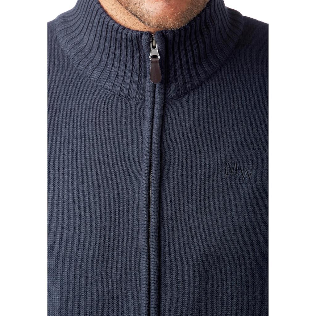 Man's World Strickjacke, aus Baumwollmischung