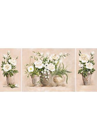 Home affaire Kunstdruck »Rosen Bouquet« (Set) kaufen