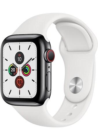 Apple Series 5 GPS + Cellular, Edelstahl mit Sportarmband 40mm Watch (Watch OS 6) kaufen