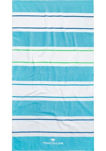 TOM TAILOR Strandtuch »Streifen«, (1 St.), mit unterschiedlichen Streifen kaufen