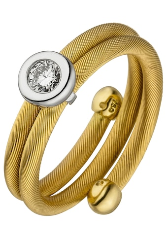 JOBO Diamantring, 750 Gold bicolor mit Diamant kaufen
