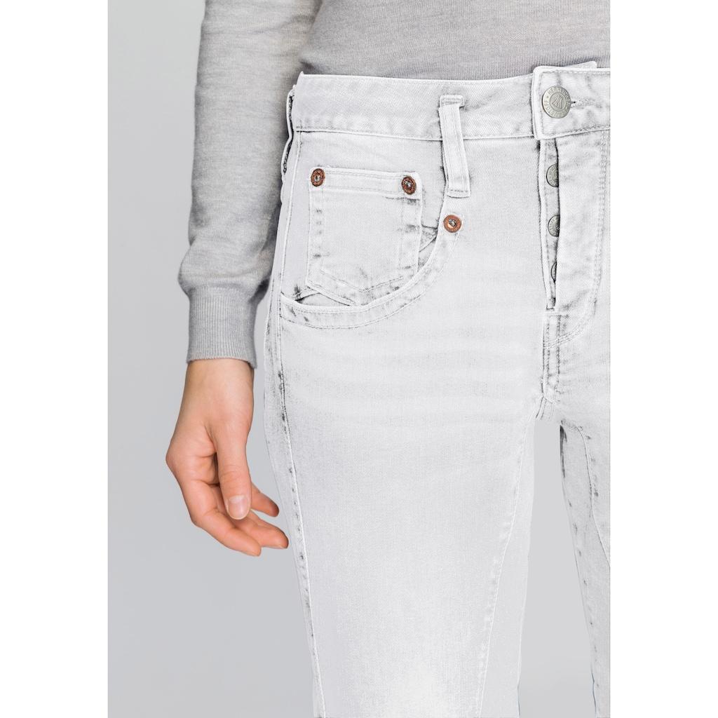 Herrlicher 7/8-Jeans »TOUCH CROPPED«, mit Cut Off Säumen