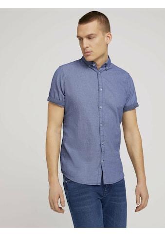 TOM TAILOR Kurzarmhemd »Strukturiertes Kurzarmhemd mit Bio-Baumwolle« kaufen