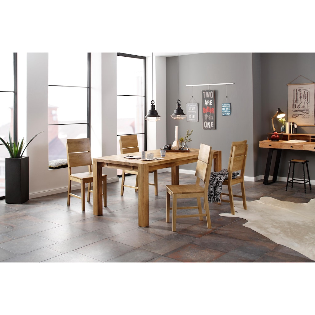 Holzzone Esszimmerstuhl »Kai«, 2er Set, aus Massivholz