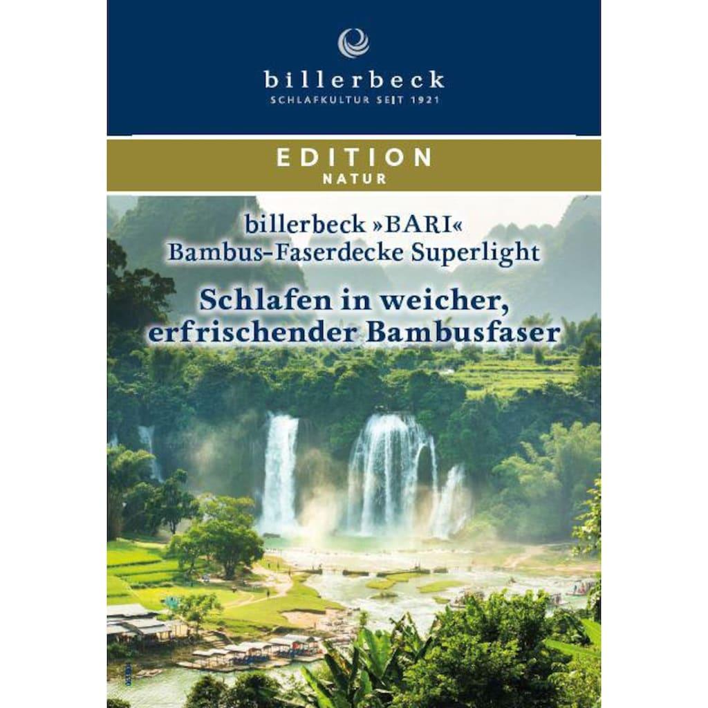 billerbeck Naturfaserbettdecke »Bari Superlight«, leicht, Bezug 100% Baumwolle, (1 St.)