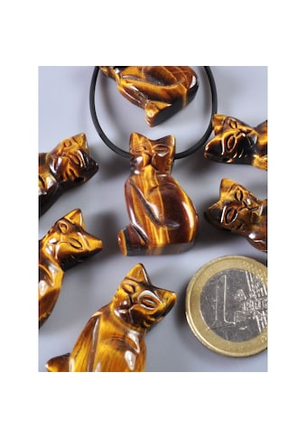 Adelia´s Kettenanhänger »Tigerauge Anhänger Katze« kaufen