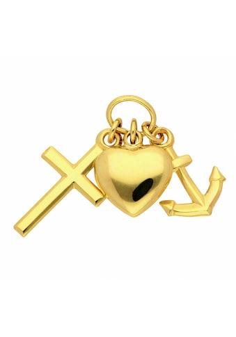 Adelia´s Kette mit Anhänger »333 Gold Anhänger Glaube-Liebe-Hoffnung - Set mit... kaufen