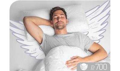 Schlafstil Nackenstützkissen »D700«, Füllung: Aussen:100%Gänsedaune; Innen: 100% Gänsefedern, Bezug: 100% Baumwolle, (1 St.), hergestellt in Deutschland, allergikerfreundlich kaufen